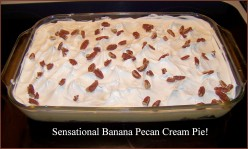 Sensational Banana Pecan Cream Cheese Pie