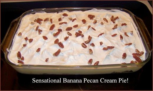 Pecan pieces sprinkled on top and finished! Chill well and serve.