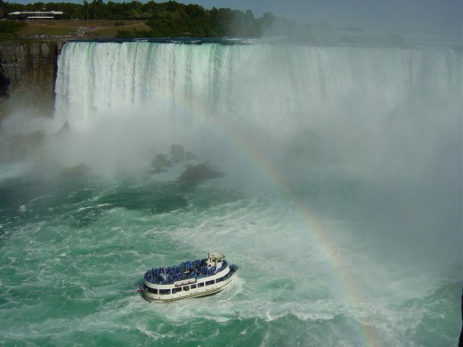 The Maid of the Mist at the Horseshoe Falls