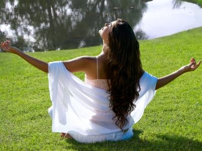 Meditation in a park
