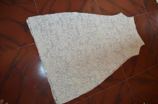 Cut the main cloth