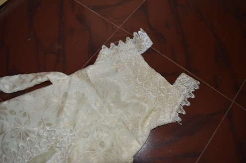 The top portion with lace