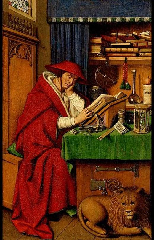 Jan Van Eyck, Saint Jerome in His Study, 1442