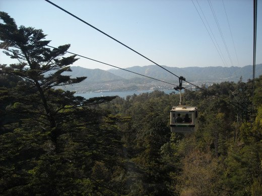 View from the Mt. Misen Ropeway.