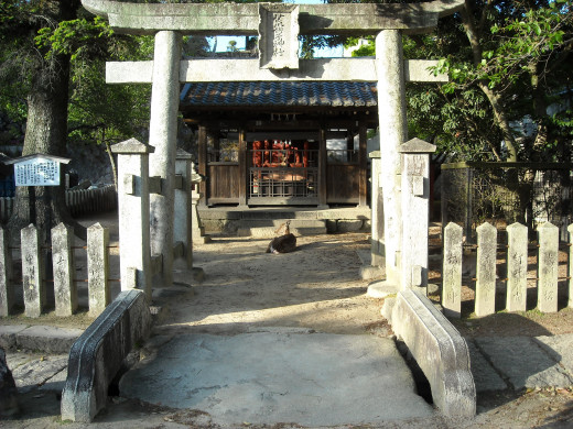 A shrine in downtown Miyajima.