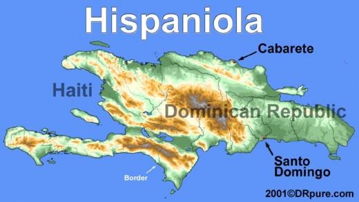 Hispaniola, the island shared by Haiti and the Dominican Republic