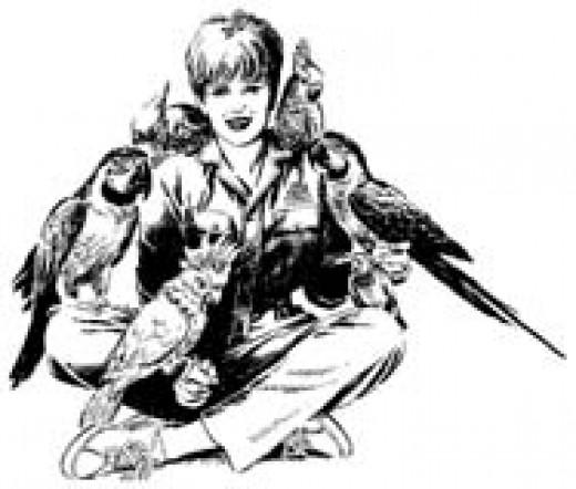 Deb with Birds