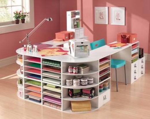 craft storage ideas on a budget. Black Bedroom Furniture Sets. Home Design Ideas