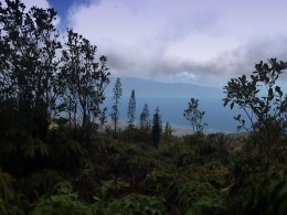 You can see Maui and The Big Island from the top