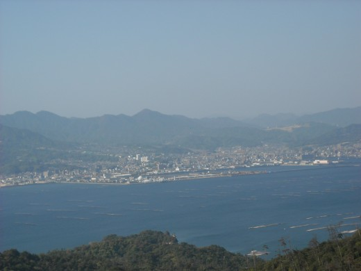 View from Mt. Misen.