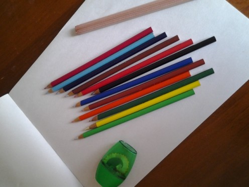 Drawing pad and pencils