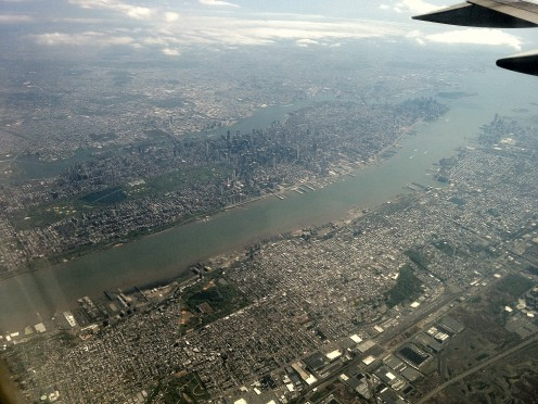 Flying in, The beautiful city of Manhattan