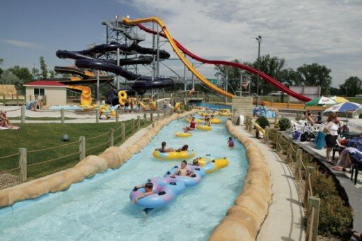 Raging rivers outdoor water park, North Dakota