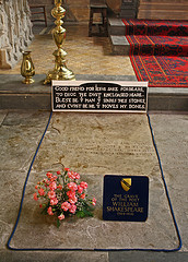 The burial place of William Shakespeare