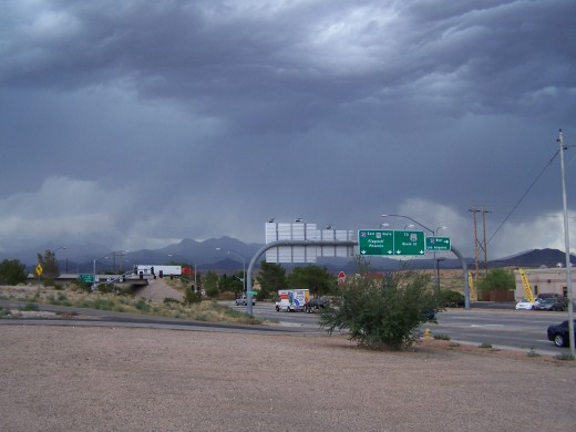 Cloud formations in Kingman, AZ during our trip