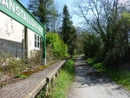 Nanstallon Halt and its passenger waiting room