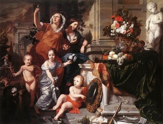 Allegory of the Five Senses (1668) Garard de Lairesse