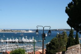 The Port of Cannes from Le Suquet