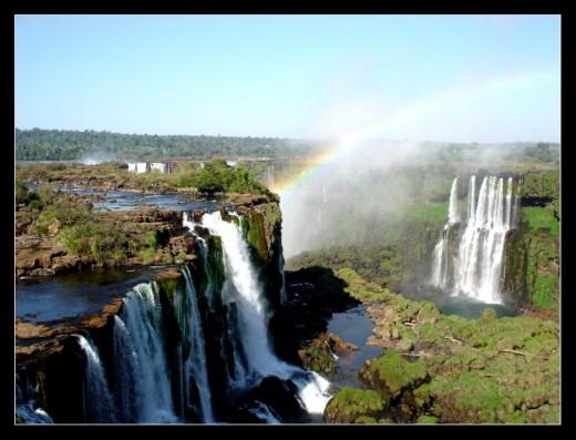 Iguazu Falls, Iguassu Falls, or Iguaçu Falls: Brazil/Argentina (from Brazil side)