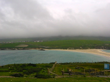The mist is beginning to clear from the beach