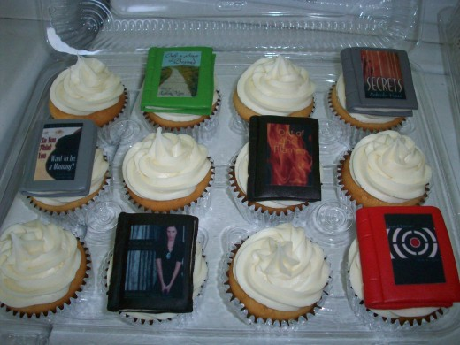 Cupcakes with my book covers