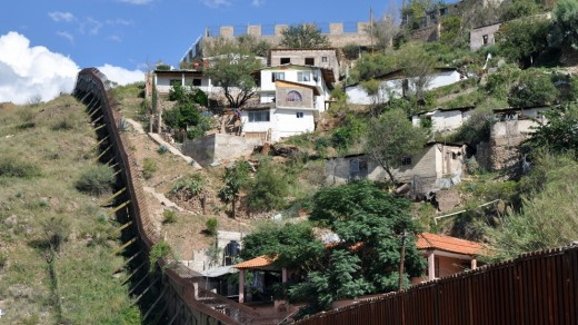 US-Mexico border at Nogales, Arizona