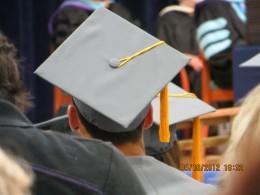 Graduation day, the commencement speech has begun.