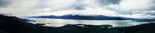 Panoramic view of the Beagle Channel