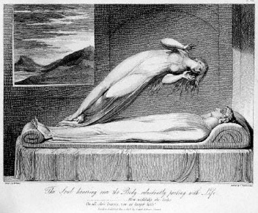 The soul leaving the body (1810).