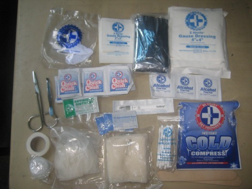 The contents of Pet First Aid