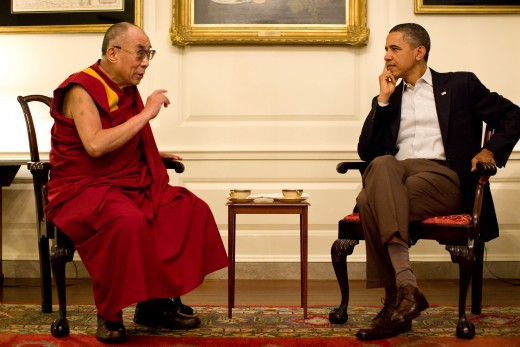 Tenzin Gyatso, the 14th and current Dalai Lama.