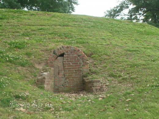 Indian mound later gun emplacement.