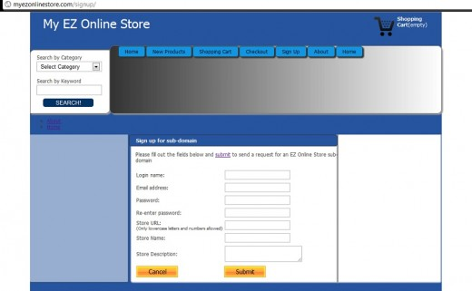 My EZ Online Store