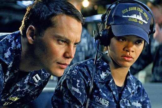 "Taylor Kitsch and Rihanna star in the new action/science fiction adventure film ""Battleship"""