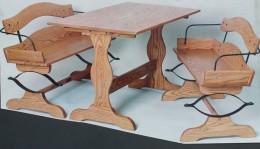 Buckboard Bench Kitchen Set
