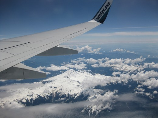 Rockie Mountains from Westjet 737 to Vancouver