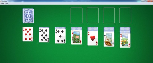 The computer and online version of Solitaire means a restart of the game with a click of the mouse - too easy!