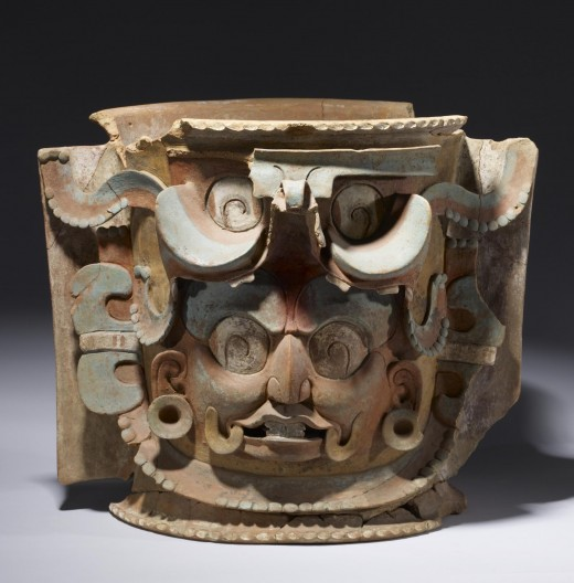 Large, lidded urns were unique to the K'iché Maya of southern Guatemala. The urns contained the remains of important individuals who either were placed in the urn as a tightly wrapped bundle or as a secondary burial of the remaining bones. A few have