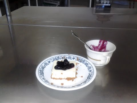 My Blueberry topped cheesecake