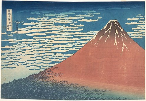 South Wind, Clear Sky (Gaifû kaisei), also known as Red Fuji, from the series Thirty-six Views of Mount Fuji (Fugaku sanjûrokkei)