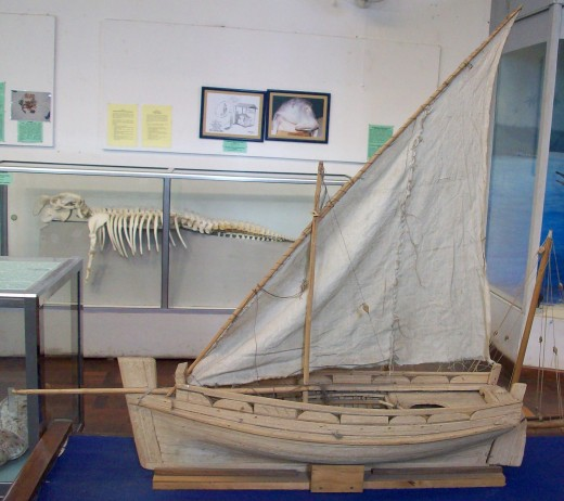 Model of the sail boat (Dhow) in the museum