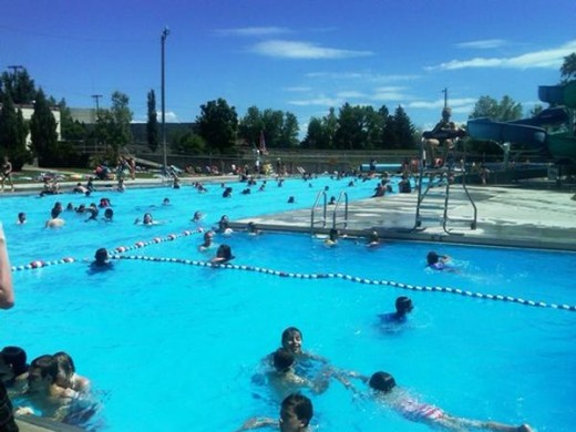 Electric city water park, Great falls, Montana
