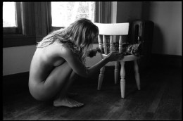 Nude With Cat on Chair...