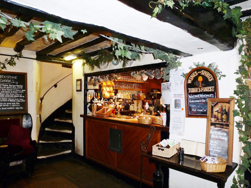 A well stocked bar with Real Ales