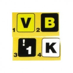 Extra bold large print keyboard stickers.