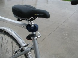 Easy on and off do-nut hitch fits any bike