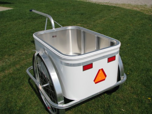 Large Aluminum Bike Trailer open