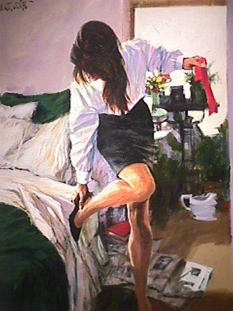 Painting by Aldo Luongo
