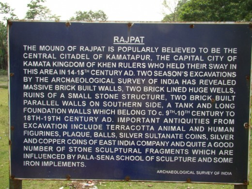 The signboard put up by ASI at the mound