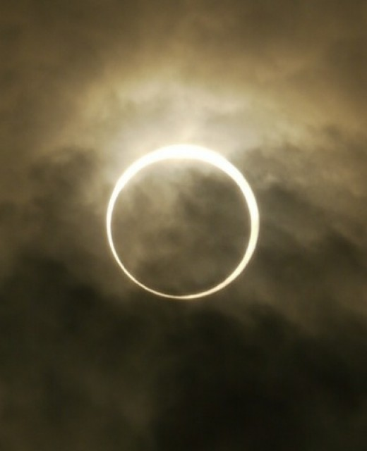 This utterly gorgeous photo of the annular eclipse again comes from Tokyo. It was hard to see through clouds, but the final result is stunning!